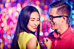 Happy dancers Royalty Free Stock Images