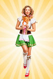 Happy dances. Stock Image