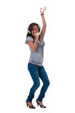 Happy and dancing Stock Images