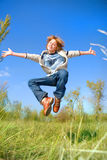 Happy dancing boy Royalty Free Stock Photos