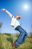 Happy dancing boy Stock Photography