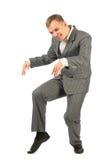 Happy dancing businessman Stock Photography