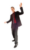 Happy dancing businessman. Stock Photography