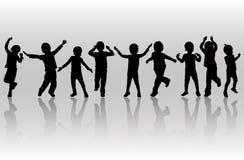 Happy dancing children Stock Image