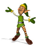 Happy Dancing Elf Stock Photography