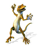 Happy Dancing Gecko - with clipping path Royalty Free Stock Images