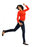 Happy dancing girl Royalty Free Stock Image