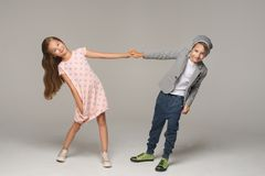 Happy dancing kids. royalty free stock photos