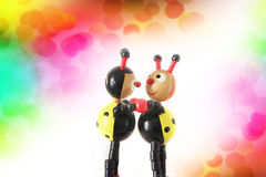 Happy dancing ladybugs Stock Images