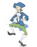 Happy dancing man. Cartoon character Stock Image