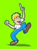 Happy Dancing Man Royalty Free Stock Photo