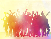 Happy dancing people Royalty Free Stock Images