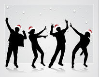 Happy dancing people Stock Photos
