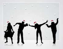 Happy dancing people Stock Photography