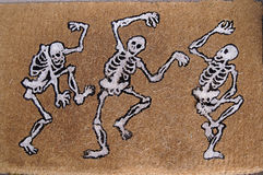 Happy Dancing Skeletons Stock Image