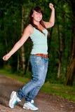 Happy dancing teenager Stock Images