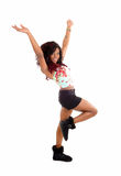 Happy dancing woman. Royalty Free Stock Photo
