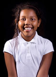 Happy Dark Skinned Girl Royalty Free Stock Images