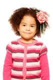 Happy dark skinned girl royalty free stock photos