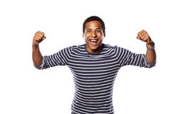 Happy dark-skinned man Royalty Free Stock Photos