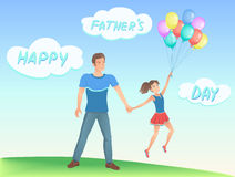 Happy daughter with her father. Royalty Free Stock Photography