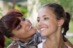 Happy daughter and mother. Together Stock Photos