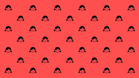 HAPPY DAUGHTER PATTERN Stock Photography