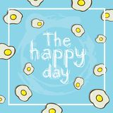 The happy day background with a lot of eggs. Illustration the happy day background with a lot of eggs Royalty Free Illustration