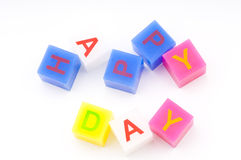 Happy day cubes Royalty Free Stock Images