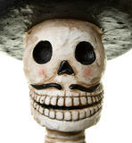 Happy Day of the Dead. Skull closeup of a Mexican style Catrina doll Royalty Free Stock Photos