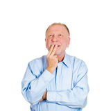 Happy day dreaming old man Stock Photo