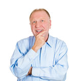 Happy day dreaming old man Stock Image