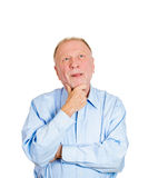 Happy day dreaming old man Royalty Free Stock Images