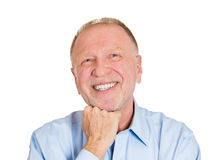 Happy day dreaming old man Royalty Free Stock Photos