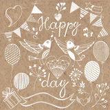 Happy day.Festive  set.  design elements for invit Royalty Free Stock Images