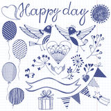 Happy day.Festive  set. Isolated design elements for invit Royalty Free Stock Photo