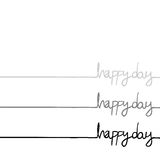 Happy day message Stock Images