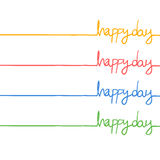 Happy day message Royalty Free Stock Image