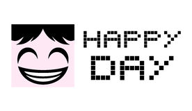 Happy day symbol Royalty Free Stock Image
