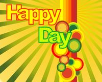 Happy day wallpaper. Wallpaper with rounds and lines Stock Image