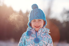 Happy days even on freezing cold days Royalty Free Stock Images
