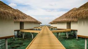 Happy days in Maldive. Enjoy the beautiful beach and sea in Maldive Stock Photo