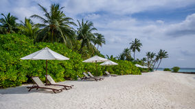 Happy days in Maldive. Enjoy the beautiful beach and sea in Maldive Royalty Free Stock Photography