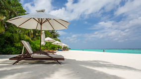 Happy days in Maldive. Enjoy the beautiful beach and sea in Maldive Royalty Free Stock Images