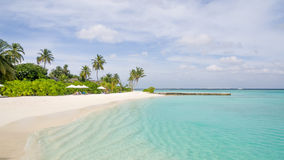 Happy days in Maldive. Enjoy the beautiful beach and sea in Maldive Royalty Free Stock Photos
