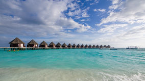 Happy days in Maldive. Enjoy the beautiful beach and sea in Maldive Stock Images