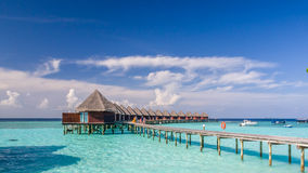 Happy days in Maldive. Enjoy the beautiful beach and sea in Maldive Royalty Free Stock Image