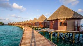 Happy days in Maldive. Enjoy the beautiful beach and sea in Maldive Royalty Free Stock Photo