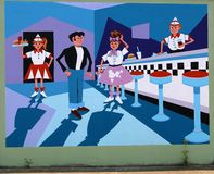 Happy Days Tribute Mural On James Road in Memphis, Tennessee. royalty free stock photography