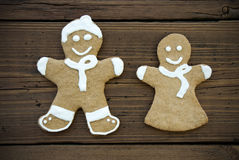 Happy Decorated Ginger Bread Couple Stock Image